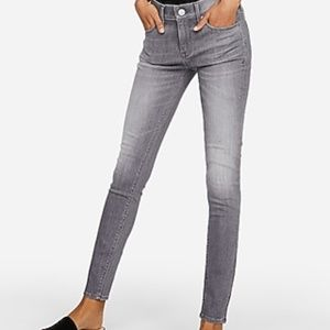 Express mid rise gray stretch jean leggings